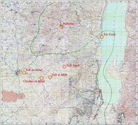 """Kartenmaterial des """"Survey of Palestine"""" Topographic maps, sheets 12, 13, 15, 16 (Britische Ausgabe von 1945-46, überarbeitete israelische Version 1956-1960), bearbeitet von Jörn Kiefer"""