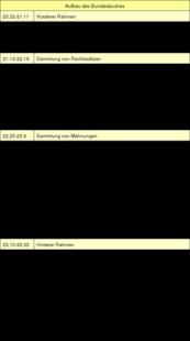 Tabelle: Der Aufbau des Bundesbuches.