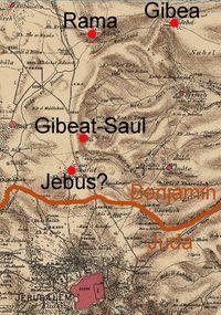 © Erasmus Gaß (auf Basis der Karte des Palestine Exploration Fund)