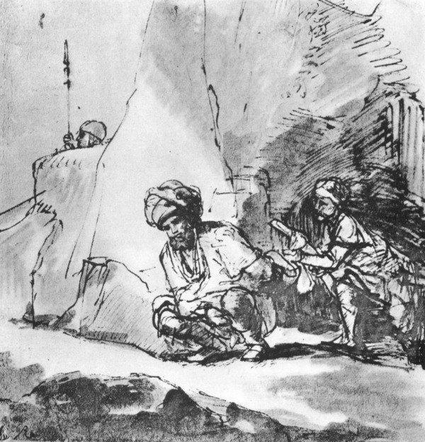 abb 5 david verschont saul 1sam 243 14 rembrandt van - Knig David Lebenslauf