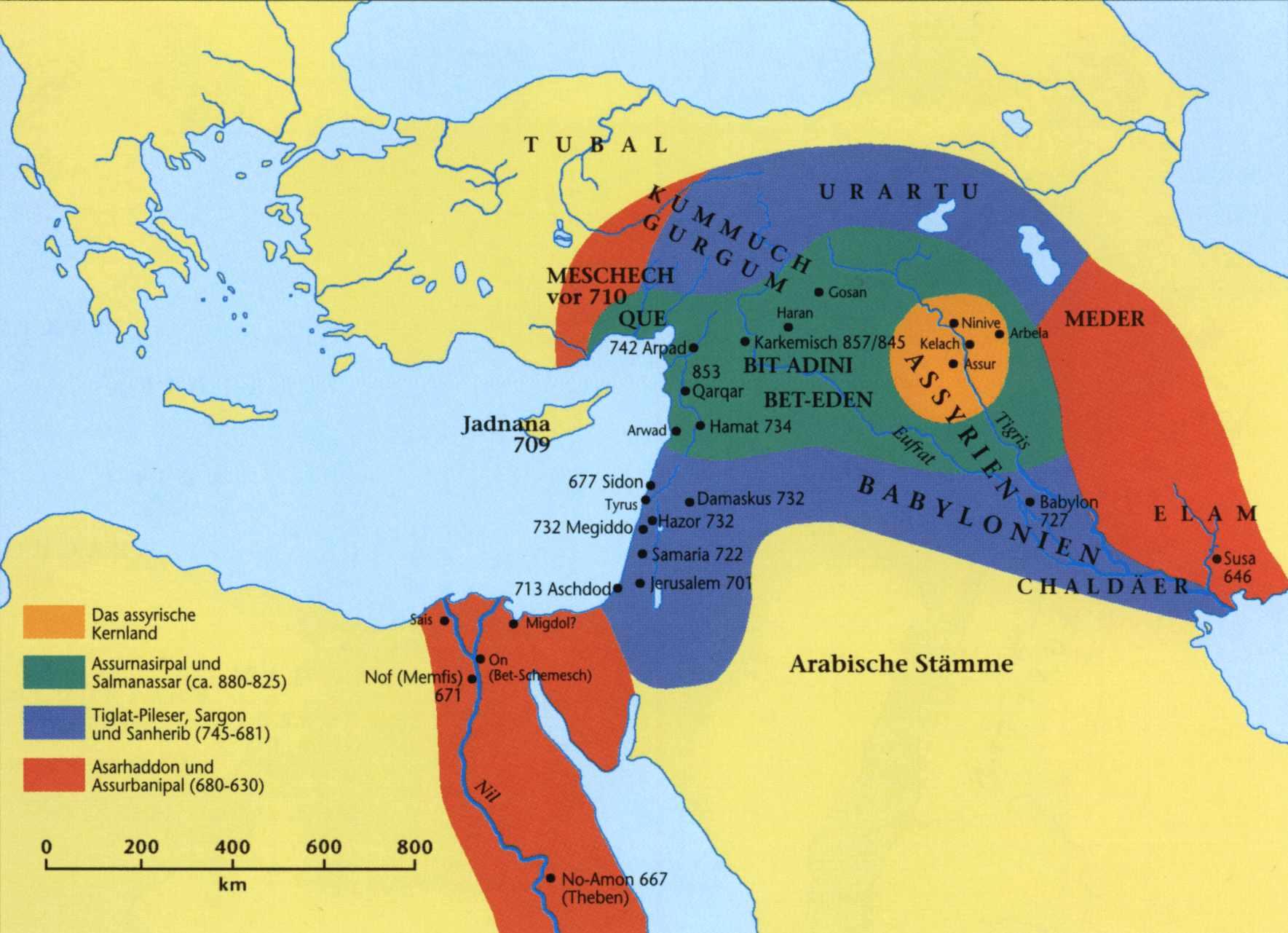 Das assyrische Reich im Lauf seiner Geschichte