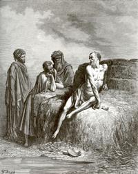 Abb. 8 Hiob und seine Freunde (Gustave Doré; 1832-1883).