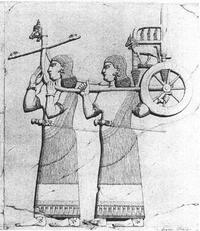 Aus: P. Albenda, Monumental Wall Reliefs at Dur-Sharrukin, from Original Drawings Made at the Time of their Discovery in 1843-1844 by Botta and Flandin, Paris 1986, Pl. 4 (Botta)