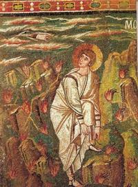 Abb. 1 Mose vor dem Dornbusch (S. Vitale in Ravenna; 6. Jh.).