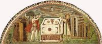 Abb. 6 Die Opfer Abels und Melchisedeks (Ravenna, San Vitale, 6. Jh.).