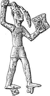 Aus: O. Keel / Chr. Uehlinger, Götter, Göttinnen und Gottessymbole (QD 134), Freiburg, 5. Aufl. 2001, Abb. 57; © Stiftung BIBEL+ORIENT, Freiburg / Schweiz