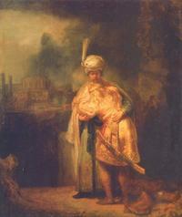 Abb. 2 Davids Abschied von Jonatan (Rembrandt, 1642); das Bild wird auch als Versöhnung von David und Absalom gedeutet.