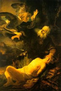 Abb. 2 Abraham und Isaak (Rembrandt; 1634).