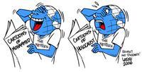 gesponsert von der iranischen Zeitung Hamshahri, http://www.irancartoon.ir/gallery/album48/carlos\_Latuff\_Brazil; abgerufen am 30.09.16