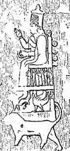 Aus: F. Thureau-Dangin, Sculptures rupestres de Maltai, RAssyr 21 (1924), 185-197, 187