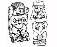 Aus: C. Herrmann, Ägyptische Amulette aus Palästina / Israel (OBO 138), Freiburg(Schweiz) / Göttingen 1994, KatNr. 631-634; © Christian Herrmann