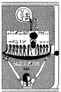 Aus: E.A.W. Budge, The Egyptian Heaven and Hell II, London 1905, 303