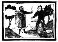 Abb. 4 Melchisedek als wilder Mann (Sinai Ms. 1187, 52v; 17. Jh.).