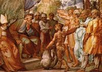 Abb. 3 Die Verlosung des Landes (Raphael; 16. Jh.).