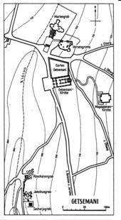 Karte aus: Gerhard Kroll, Auf den Spuren Jesu, Leipzig 81980, 426 (Abb. 243).