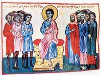 Abb. 1 Mose (Oktateuch von Watopédi; Athos; 13. Jh.).