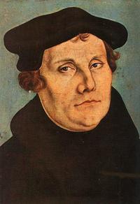 Abb. 4 Martin Luther (Portrait von Lucas Cranach d.Ä., 1529).