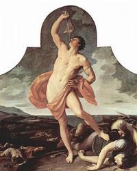 Abb. 5 Simson erschlägt 1000 Philister mit dem Kieferknochen eines Esels (Guido Reni; 1611/1612).