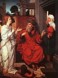 Abb. 5 Abraham, Sara und der Engel, Jan Provost (1520), Paris