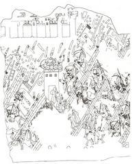Abb. 2 Deportation judäischer Frauen, Kinder und Männer aus der durch die Assyrer 701 v. Chr. eroberten Stadt Lachisch (Südwestpalast in Ninive), in: Ussishkin, David, The Conquest of Lachish by Sennacherib, Tel Aviv 1982.