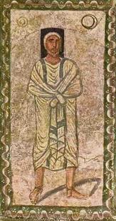 Abb. 1 Abraham (Fresko in der Synagoge von Dura Europos; 3. Jh.).