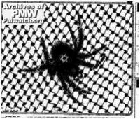Aus: Al-Hayat Al al-Jadida (palästin.) 21. Okt. 2001, http://www.palwatch.org/site/modules/cartoons/cartoons.aspx?year=2001; abgerufen am 04.10.16