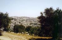 Abb. 5 Blick vom *Ǧebel er-Rumēde* auf das Zentrum der heutigen Stadt Hebron (*el-Chalīl*) mit dem Gebäude der Machpela (*Ḥaram el-Chalīl*) im Zentrum.