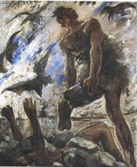Abb. 3 Kain ermordet seinen Bruder (Lovis Corinth, 1917).