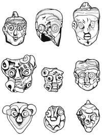 Aus: C. Herrmann, Ägyptische Amulette aus Palästina / Israel (OBO 138), Freiburg(Schweiz) / Göttingen 1994, KatNr. 1352-1433; © Christian Herrmann