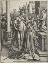 Abb. 6 Frauen verführen Salomo zum Götzendienst (Lucas van Leyden, 1514).