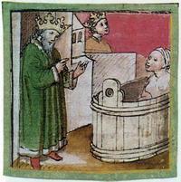 Abb. 2 David sieht Batseba (Codex Germanicus 206, 1457).