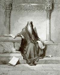 Abb. 1 Salomo der Weise (Holzstich von Gustav Doré; 1832-1883).