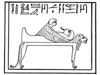 Aus: É. Naville, Das aegyptische Todtenbuch der XVIII. bis XX. Dynastie, Bd. I: Text und Vignetten, Berlin 1886, Taf. CI