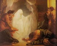 Abb. 4 Erscheinung des toten Samuel (1Sam 28; Benjamin West; 18. Jh.).