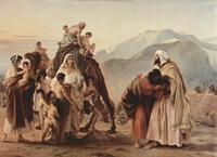 Abb. 2 Die Versöhnung der Brüder Jakob und Esau (Francesco Hayez; 1844).