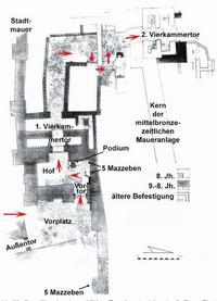 Aus: M. Bernett / O. Keel, Mond, Stier und Kult am Stadttor. Die Stele von Betsaida (et-Tell), [OBO 161], Freiburg [Schweiz] / Göttingen 1998, 130 Abb. 78; Beschriftung: Klaus Koenen)