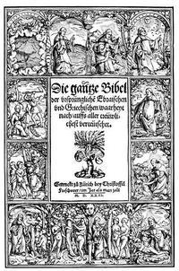 Abb. 9 Titelblatt der Zürcher Bibel von 1531.