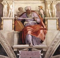 Abb. 1 Der Prophet Joel (Michelangelo, Sixtinische Kapelle; um 1510).