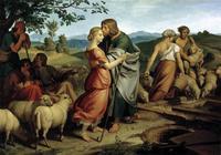 Abb. 8 Jakob trifft Rahel mit der Herde des Vaters (Joseph von Führich; 1836).