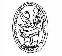 Aus: O. Keel / Chr. Uehlinger, Götter, Göttinnen und Gottessymbole (QD 134), Freiburg 5. Aufl. 2001, Abb. 363b; © Stiftung BIBEL+ORIENT, Freiburg / Schweiz