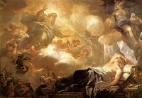 Abb. 2 Salomos Traum in Gibeon: Er wünscht sich ein hörendes Herz (Luca Giordano, ca. 1694).
