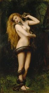 Abb. 2 Lilit mit Schlange (John Collier; 1892).