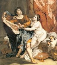 Abb. 7 Josef und Potifars Frau (Peter Anton Abesch, um 1725).