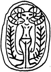Aus: O. Keel / Chr. Uehlinger, Götter, Göttinnen und Gottessymbole (QD 134), Freiburg, 5. Aufl. 2001, Abb. 2; © Stiftung BIBEL+ORIENT, Freiburg / Schweiz