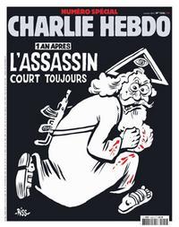 http://www.lemonde.fr/actualite-medias/article/2016/01/04/un-an-apres-un-dieu-assassin-a-la-une-du-numero-anniversaire-de-charlie-hebdo\_4841110\_3236.html; abgerufen am 04.10.2016