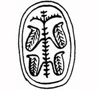 Aus: O. Keel / Chr. Uehlinger, Götter, Göttinnen und Gottessymbole (QD 134), Freiburg, 5. Aufl. 2001, Abb. 15c; © Stiftung BIBEL+ORIENT, Freiburg / Schweiz
