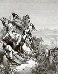 Abb. 2 Die Israeliten rauben die Jungfrauen von Jabesch (Gustav Doré; 19. Jh.).