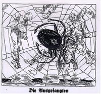 Aus: Der Stürmer, Nr. 8, Februar 1930 http://honestreporting.com/romney-trapped-by-the-israel-lobby-spider/, abgerufen am 04.10.16