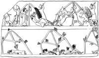 Aus: O. Keel / M. Küchler / Chr. Uehlinger, Orte und Landschaften der Bibel. Ein Handbuch und Studienreiseführer zum Heiligen Land, Bd. 1, Zürich u.a. 1984, Abb. 105 (© Stiftung BIBEL+ORIENT, Freiburg / Schweiz)