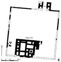 Zeichnung © S. Halama für den WiBiLex Artikel Palast nach R.S. Lamon / G.M. Shipton, Megiddo I, Seasons of 1925-34. Strata I-IV (OIP 42), Fig. 12